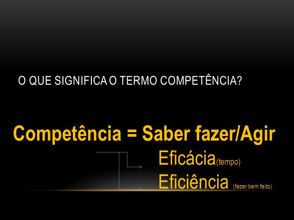 O que significa o termo Competência
