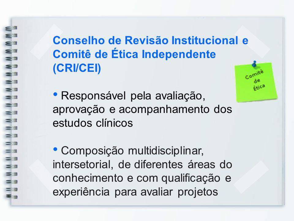 Conselho de Revisão Institucional e Comitê de Ética Independente (CRI/CEI)