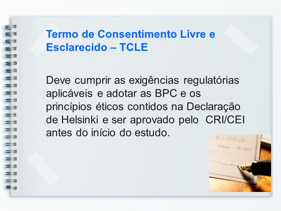 Termo de Consentimento Livre e Esclarecido – TCLE