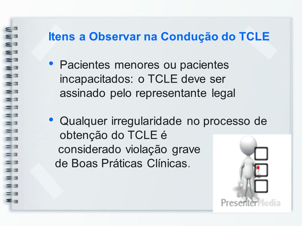 Itens a Observar na Condução do TCLE