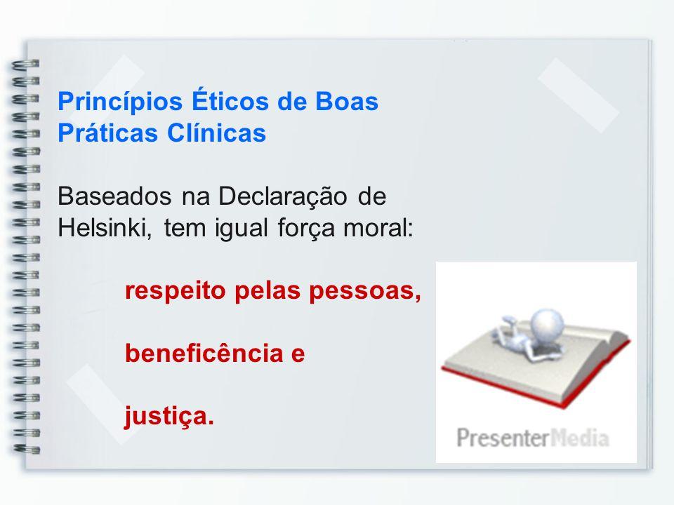 Princípios Éticos de Boas Práticas Clínicas