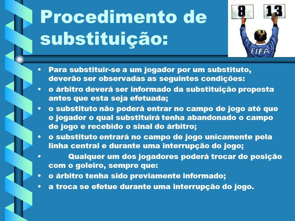 Procedimento de substituição: