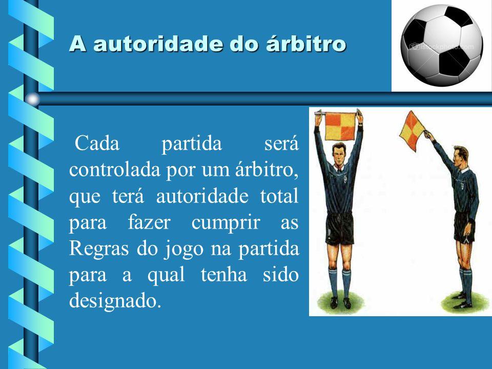 A autoridade do árbitro