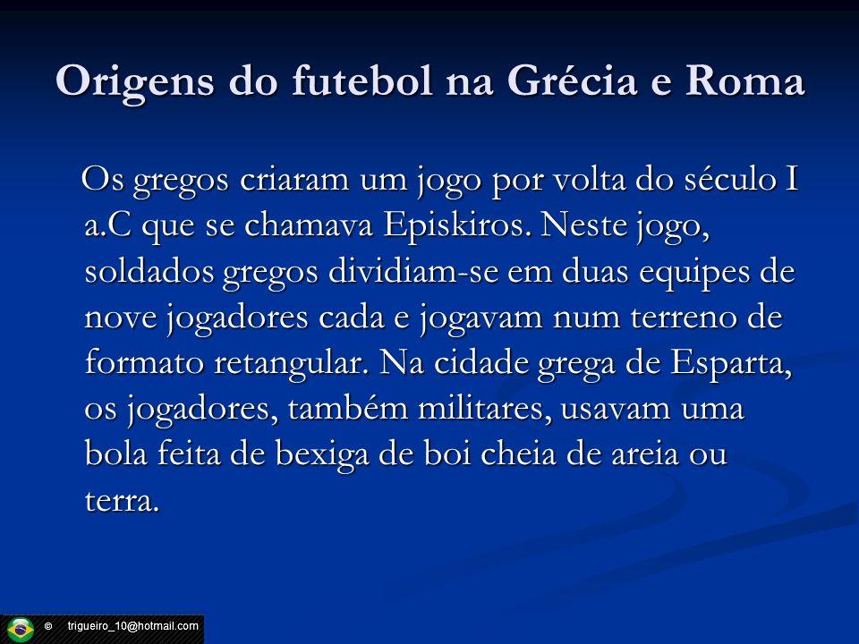 Origens do futebol na Grécia e Roma
