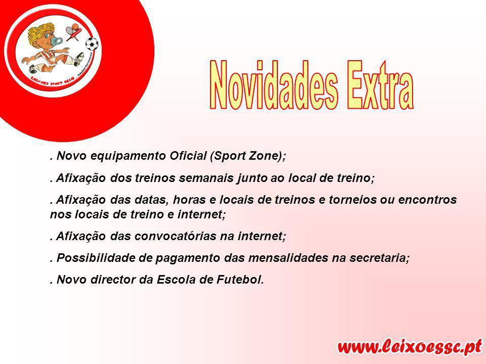 Novidades Extra . Novo equipamento Oficial (Sport Zone);