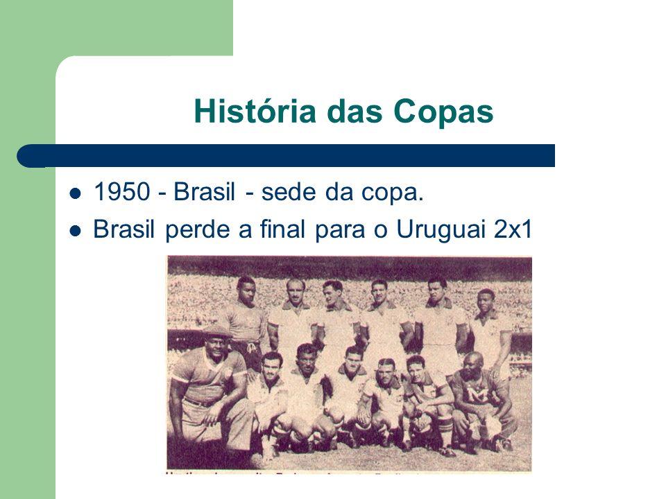 História das Copas 1950 - Brasil - sede da copa.