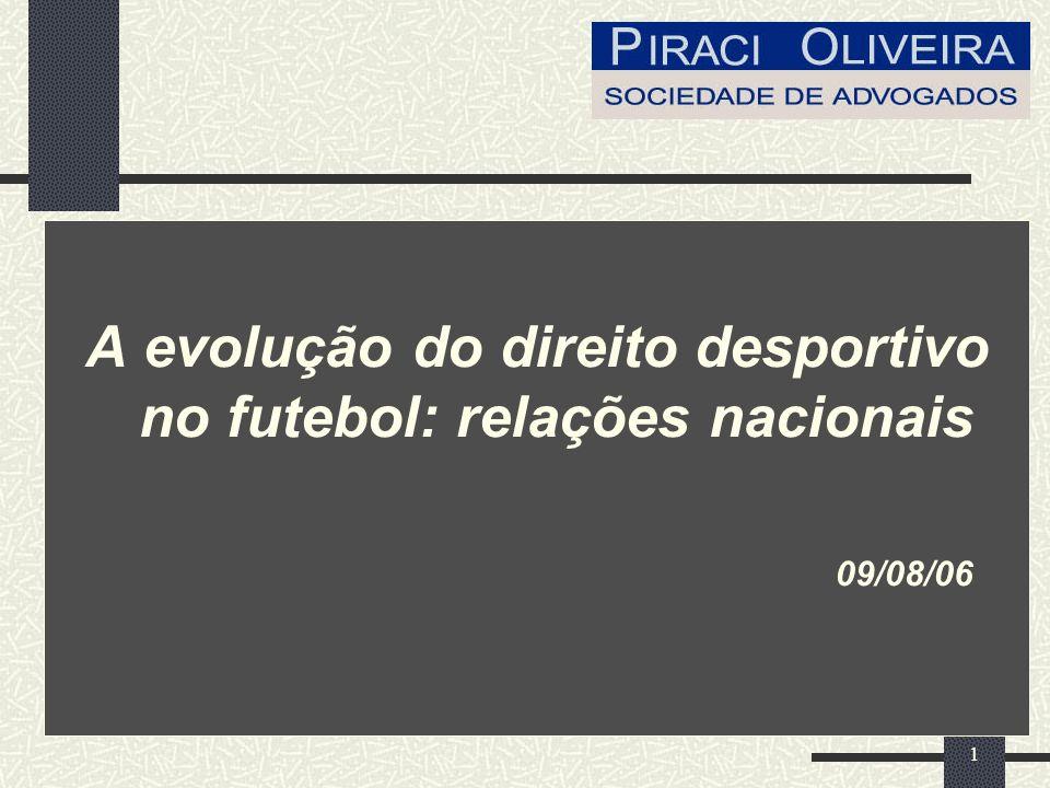 A evolução do direito desportivo no futebol: relações nacionais