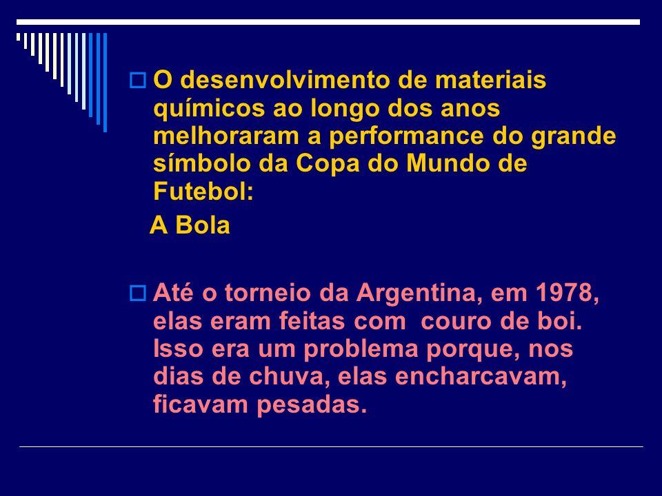 O desenvolvimento de materiais químicos ao longo dos anos melhoraram a performance do grande símbolo da Copa do Mundo de Futebol: