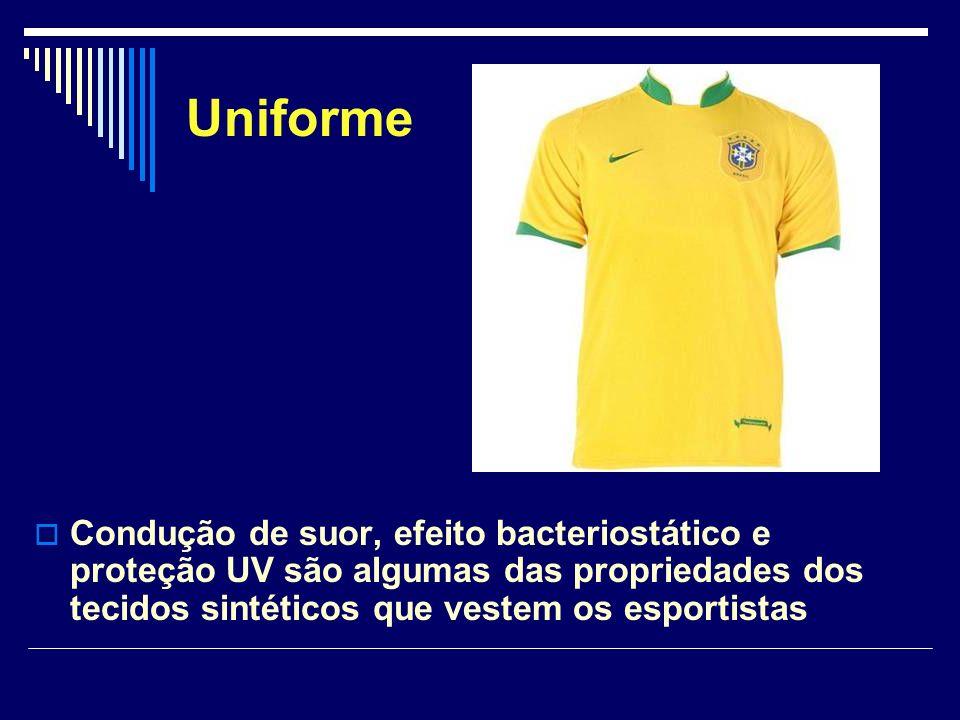 Uniforme Condução de suor, efeito bacteriostático e proteção UV são algumas das propriedades dos tecidos sintéticos que vestem os esportistas