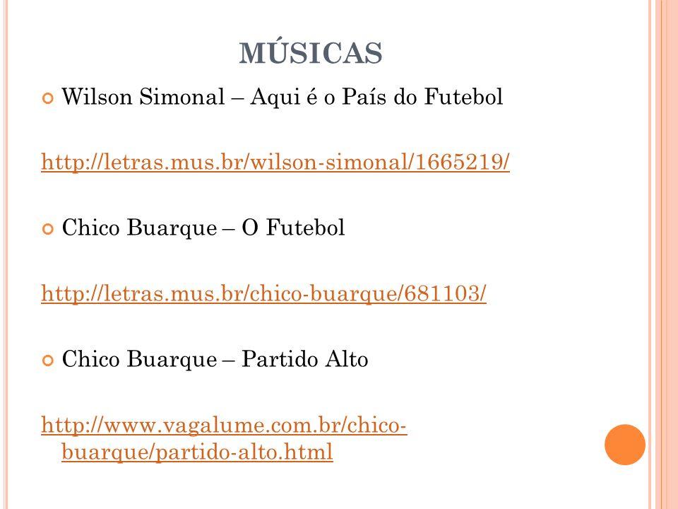 MÚSICAS Wilson Simonal – Aqui é o País do Futebol
