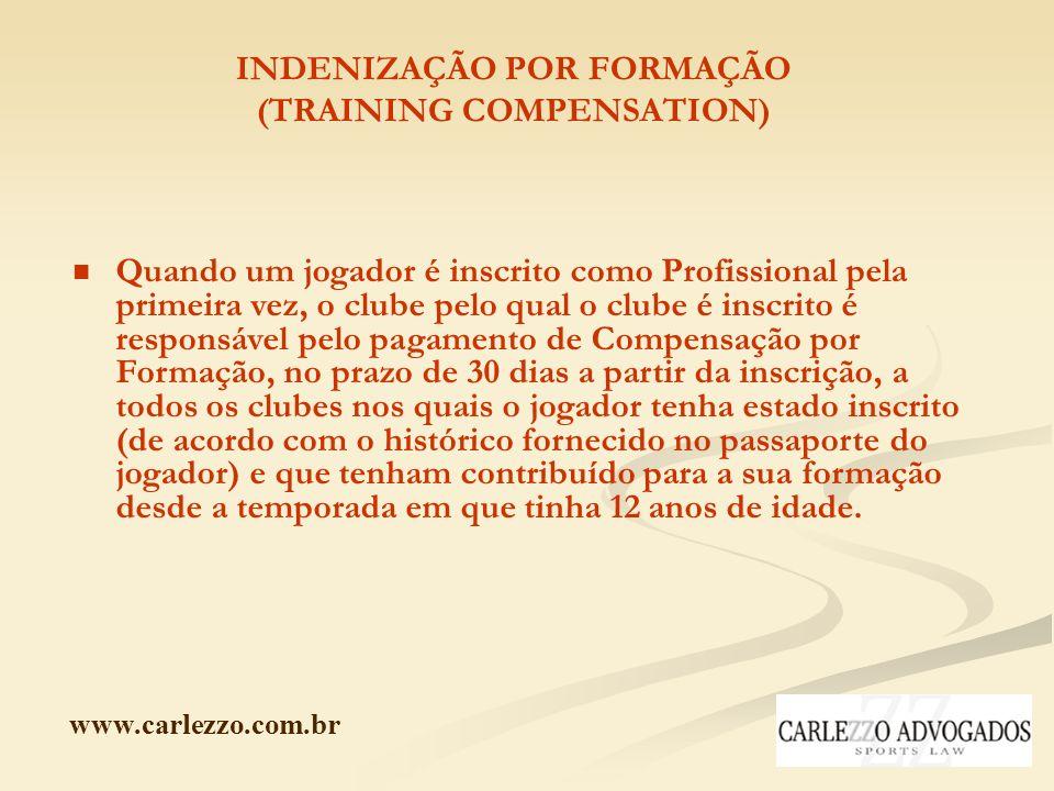 INDENIZAÇÃO POR FORMAÇÃO (TRAINING COMPENSATION)