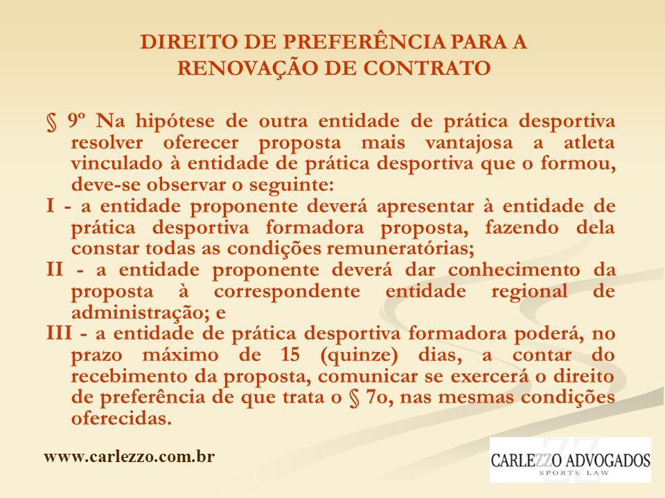 DIREITO DE PREFERÊNCIA PARA A