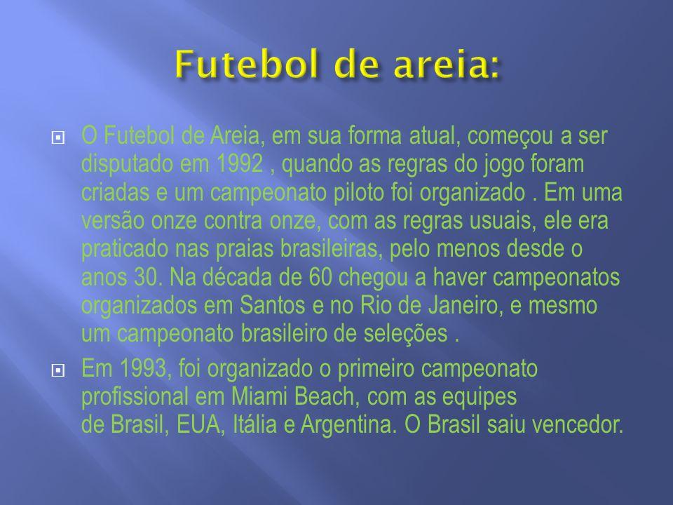 Futebol de areia: