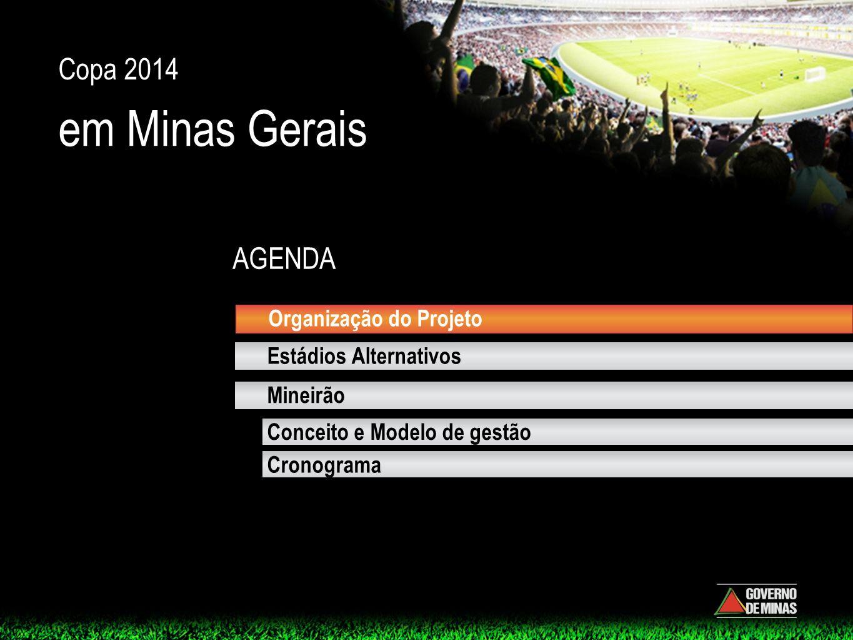 em Minas Gerais Copa 2014 AGENDA Organização do Projeto