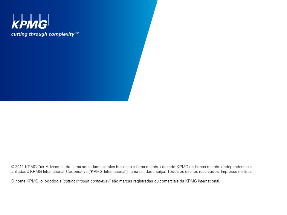 © 2011 KPMG Tax Advisors Ltda