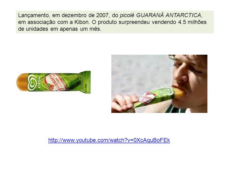 Lançamento, em dezembro de 2007, do picolé GUARANÁ ANTARCTICA, em associação com a Kibon. O produto surpreendeu vendendo 4.5 milhões de unidades em apenas um mês.