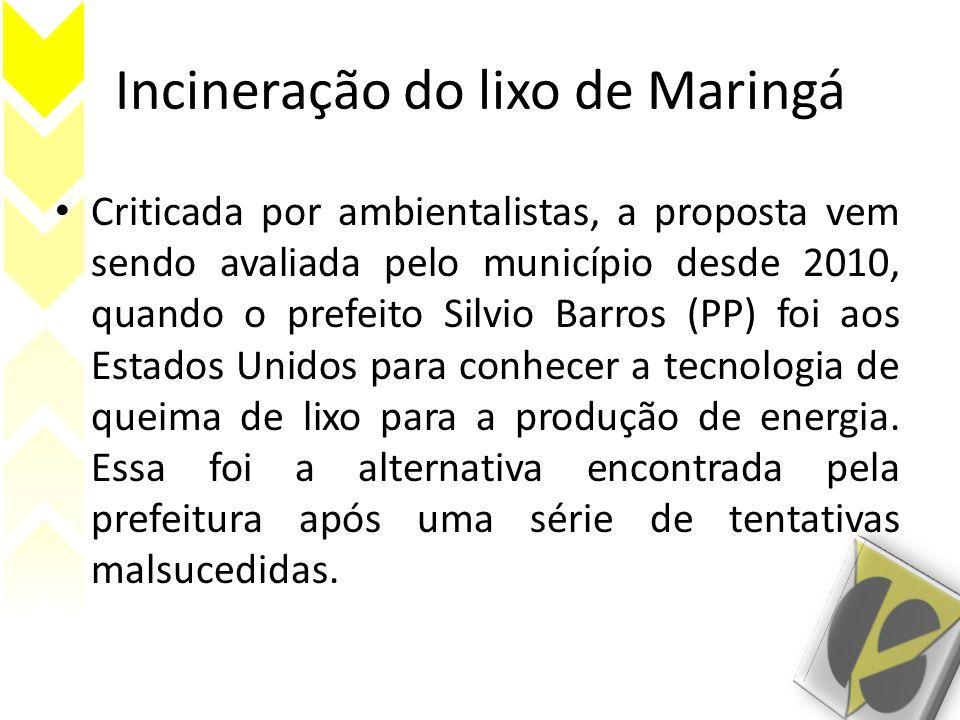 Incineração do lixo de Maringá