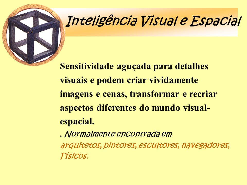 Inteligência Visual e Espacial