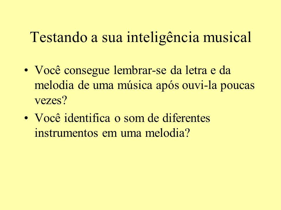 Testando a sua inteligência musical