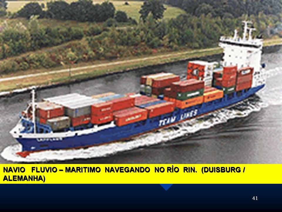 NAVIO FLUVIO – MARITIMO NAVEGANDO NO RÍO RIN. (DUISBURG / ALEMANHA)