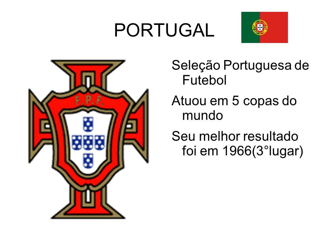 PORTUGAL Seleção Portuguesa de Futebol Atuou em 5 copas do mundo