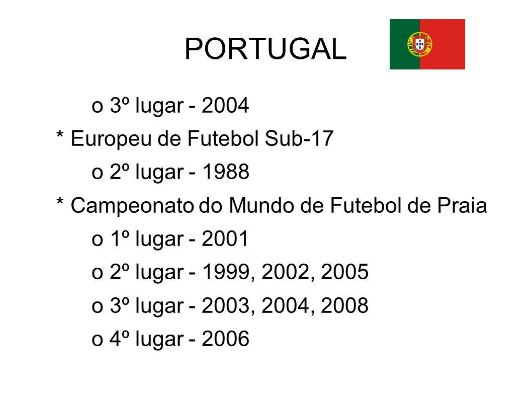 PORTUGAL o 3º lugar - 2004 * Europeu de Futebol Sub-17