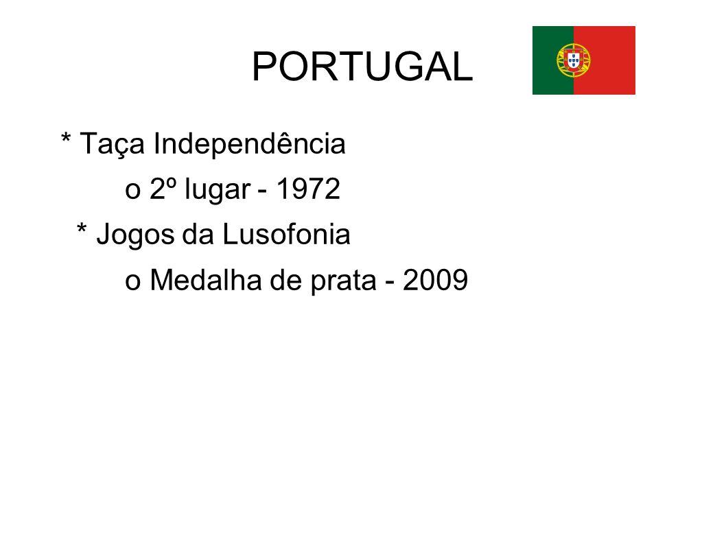 PORTUGAL * Taça Independência o 2º lugar - 1972 * Jogos da Lusofonia