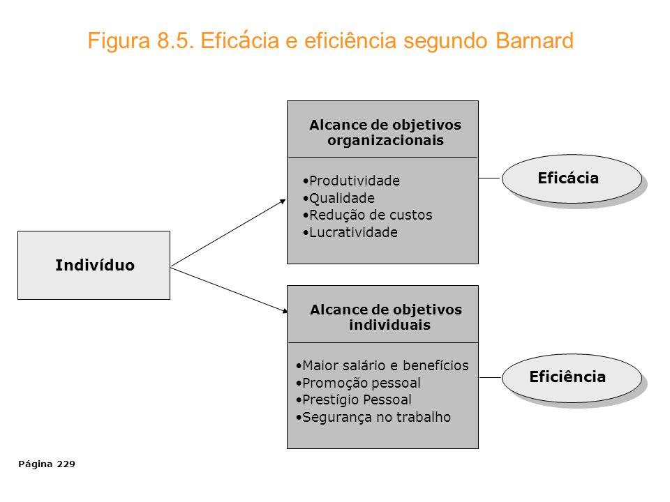 Alcance de objetivos organizacionais Alcance de objetivos individuais