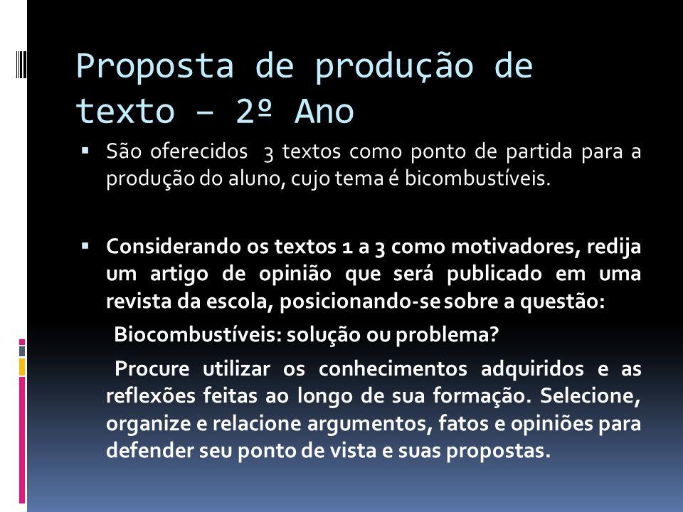 Proposta de produção de texto – 2º Ano