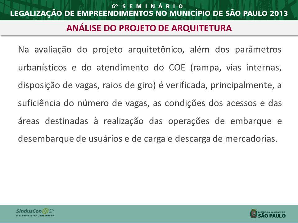 ANÁLISE DO PROJETO DE ARQUITETURA