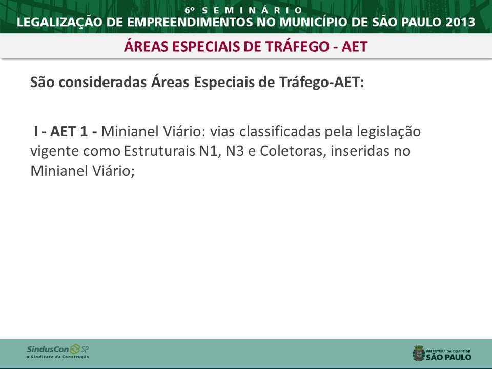 ÁREAS ESPECIAIS DE TRÁFEGO - AET