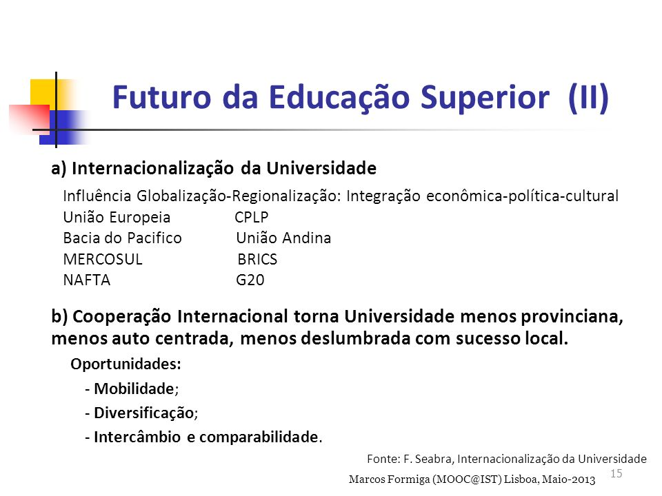 Futuro da Educação Superior (II)