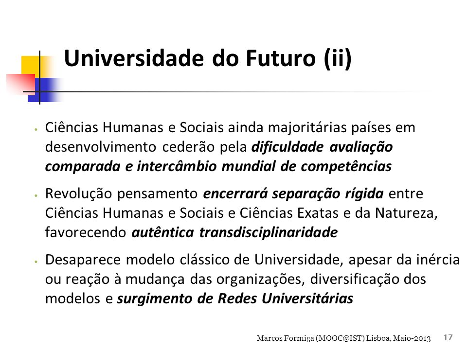 Universidade do Futuro (ii)