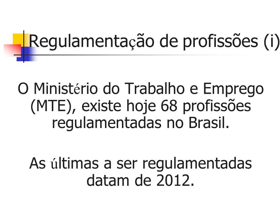 Regulamentação de profissões (i)