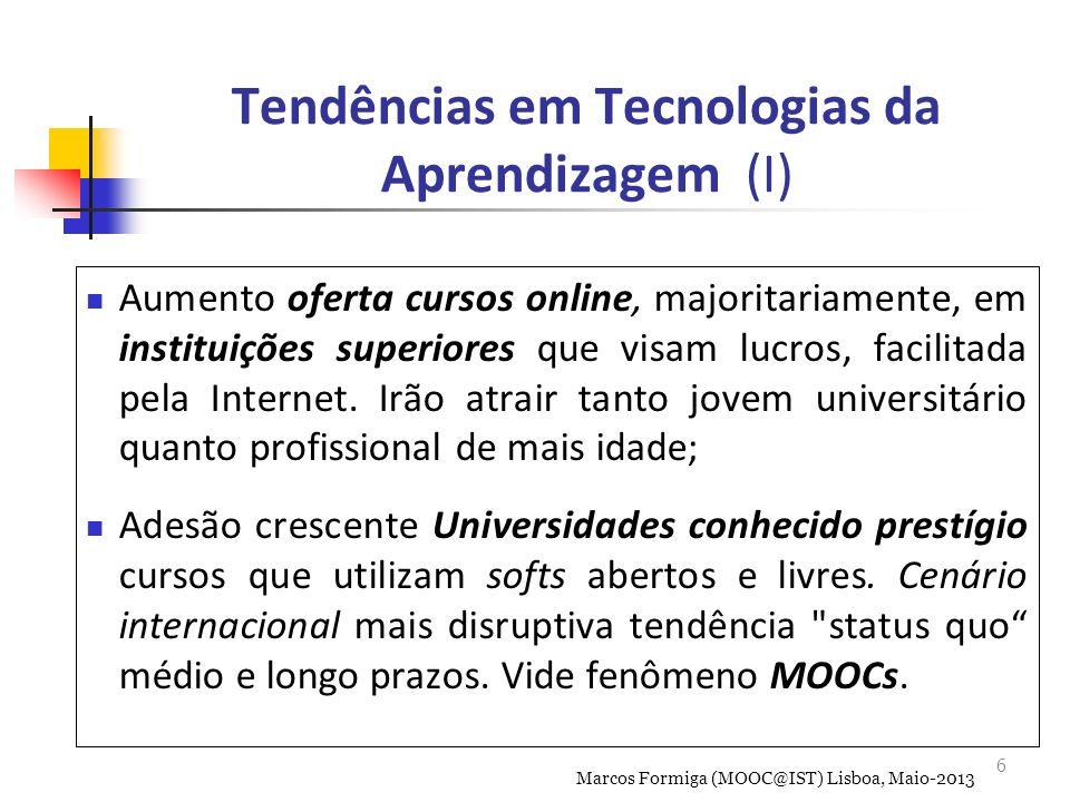 Tendências em Tecnologias da Aprendizagem (I)
