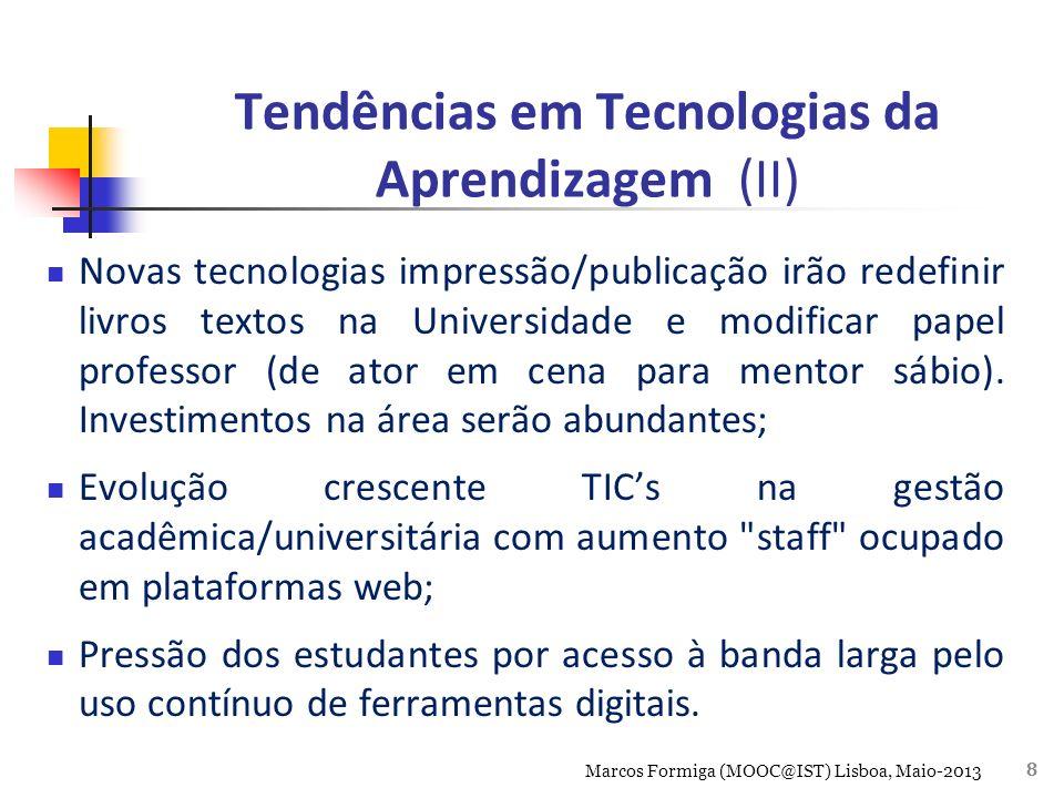 Tendências em Tecnologias da Aprendizagem (II)