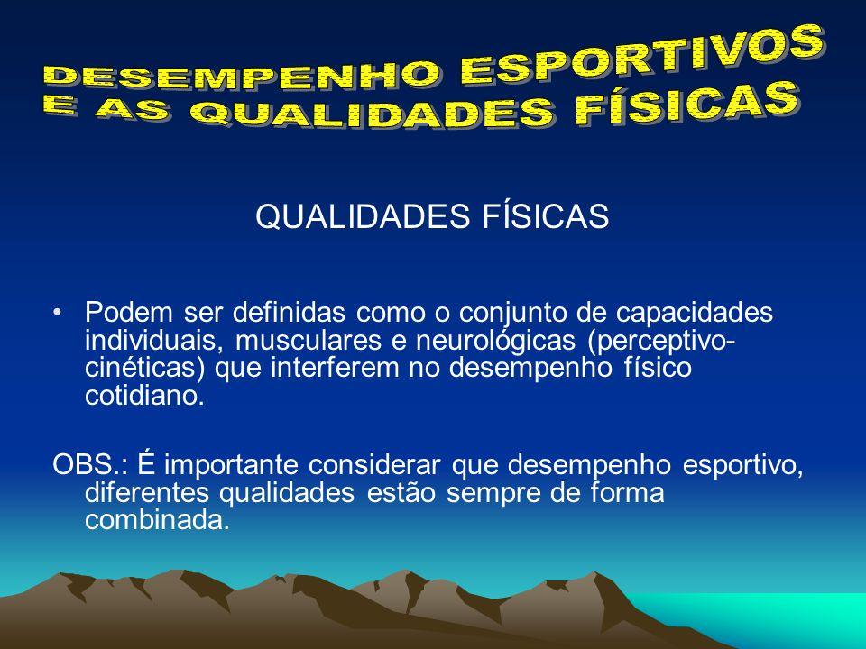 DESEMPENHO ESPORTIVOS E AS QUALIDADES FÍSICAS