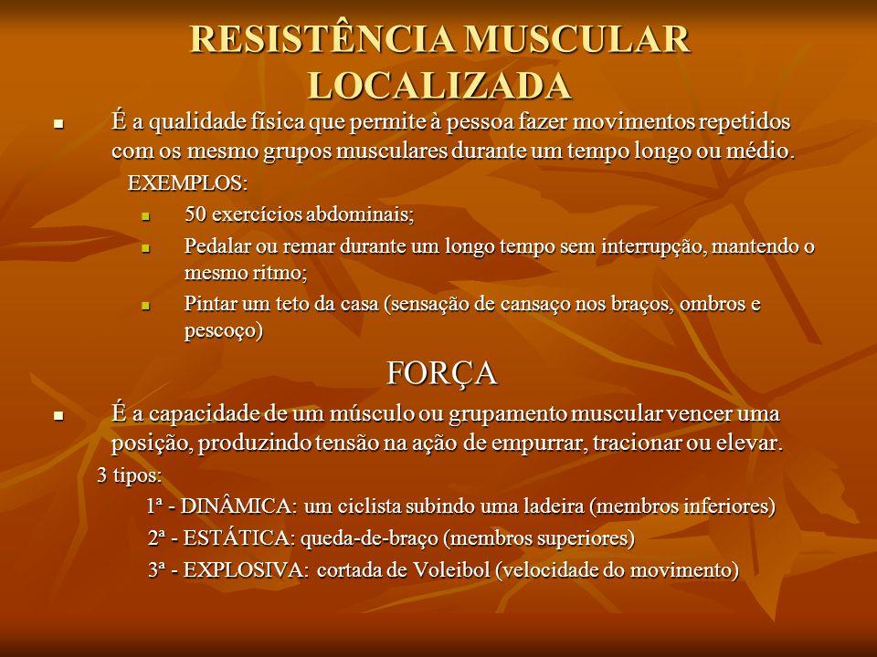 RESISTÊNCIA MUSCULAR LOCALIZADA