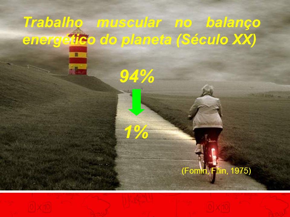 Trabalho muscular no balanço energético do planeta (Século XX)