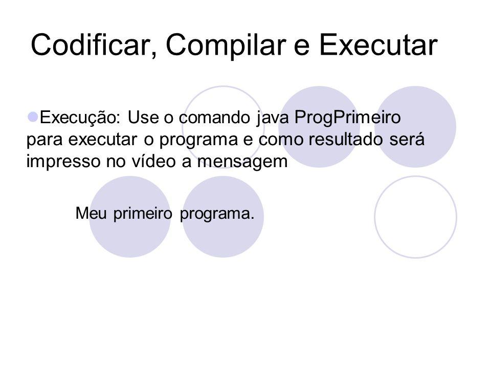 Codificar, Compilar e Executar