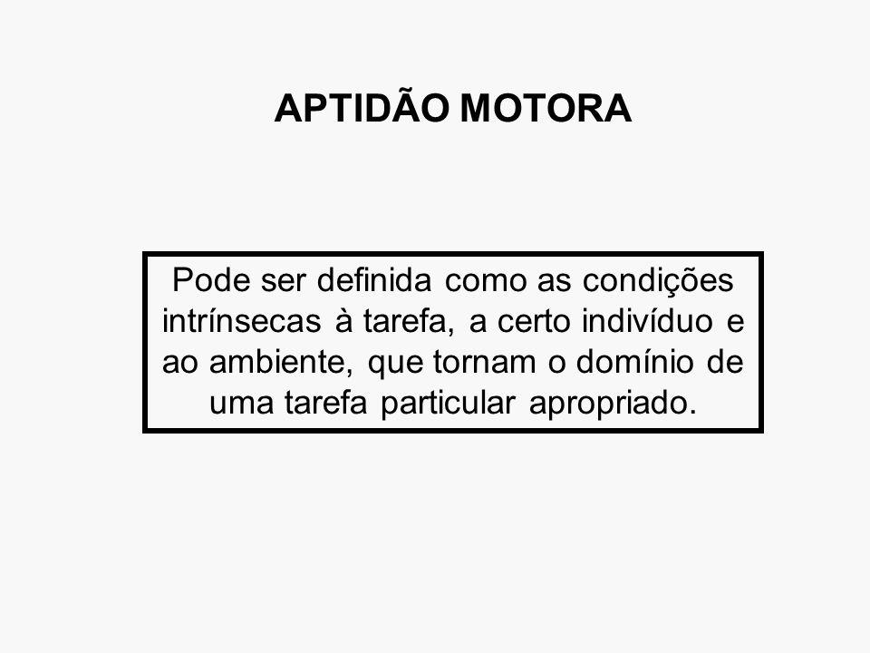 APTIDÃO MOTORA