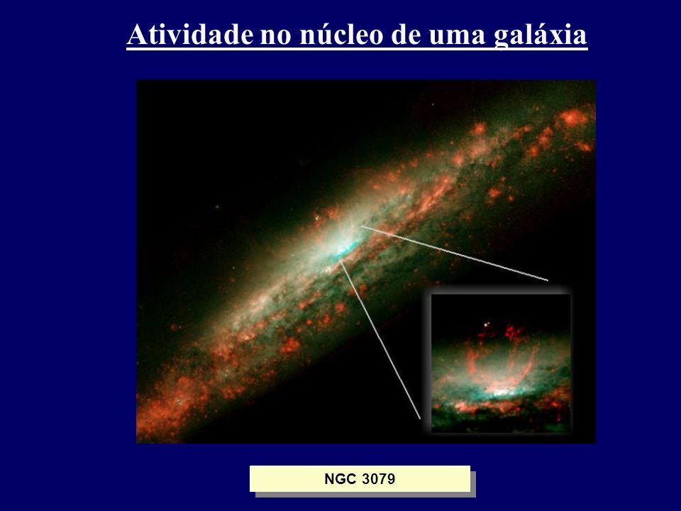 Atividade no núcleo de uma galáxia