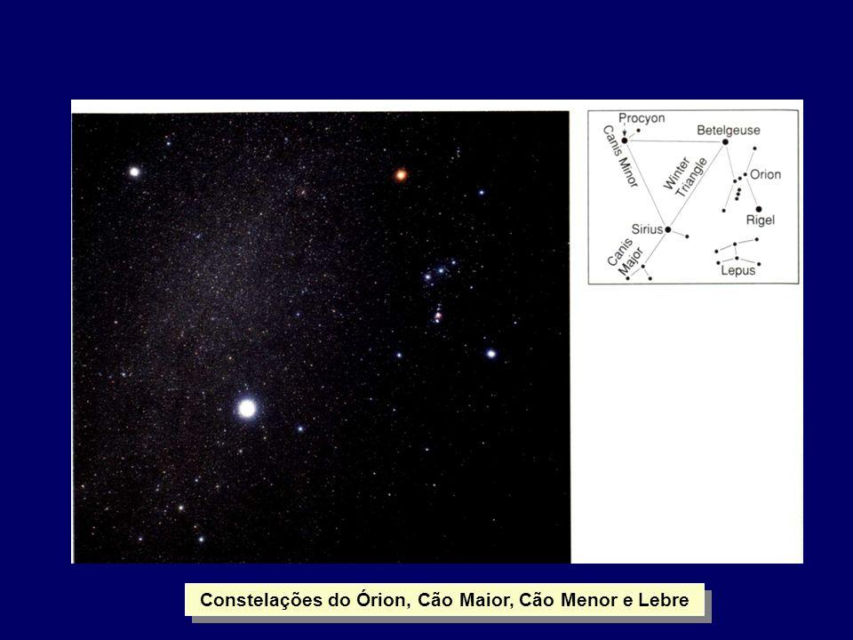 Constelações do Órion, Cão Maior, Cão Menor e Lebre
