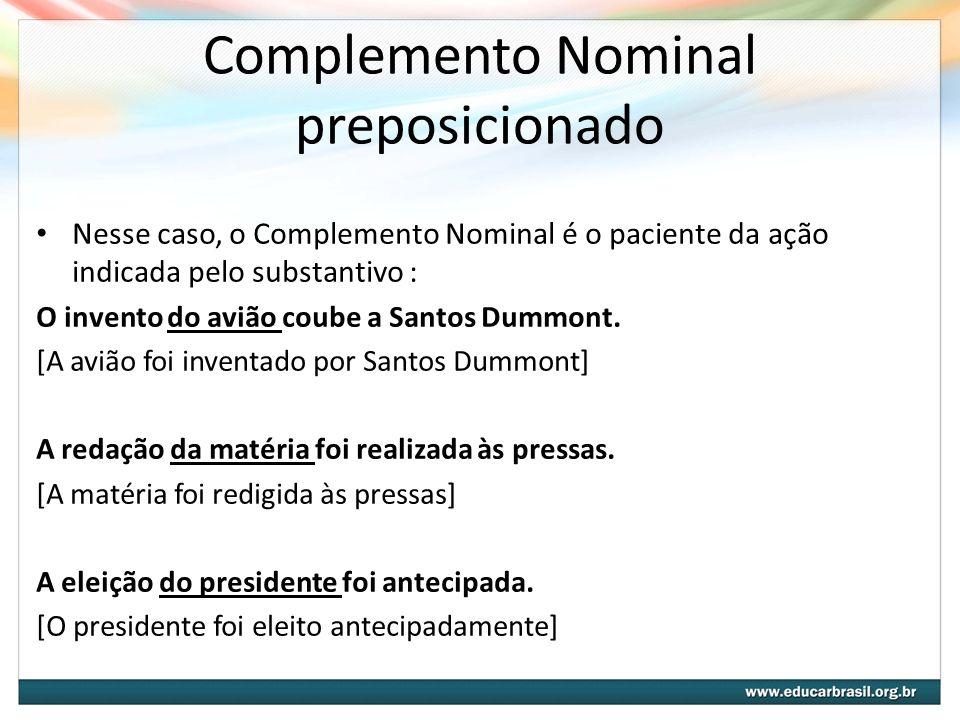 Complemento Nominal preposicionado