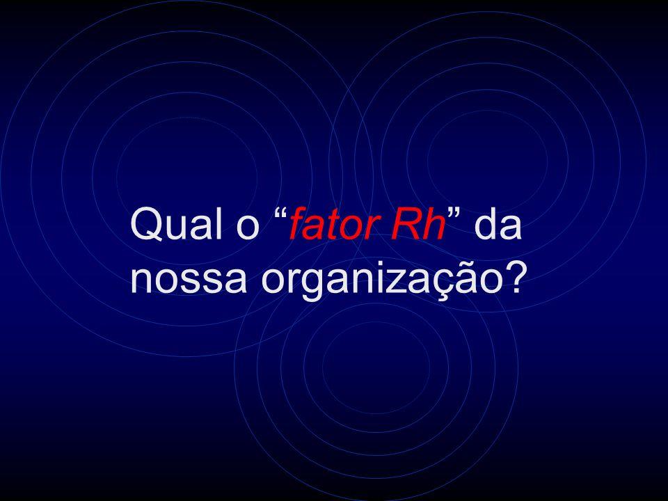 Qual o fator Rh da nossa organização