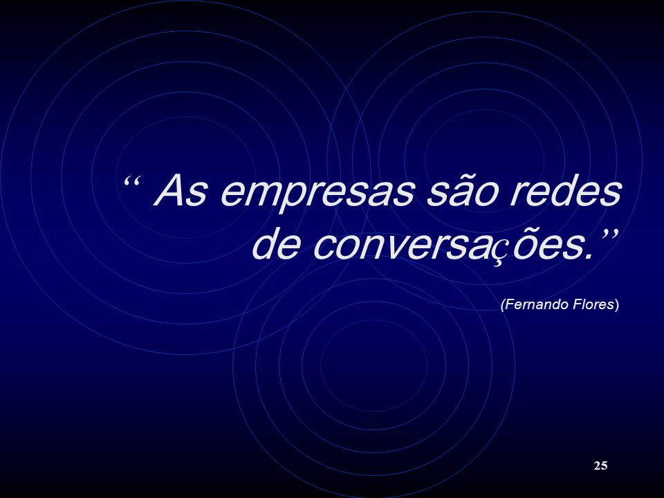 As empresas são redes de conversações. (Fernando Flores)
