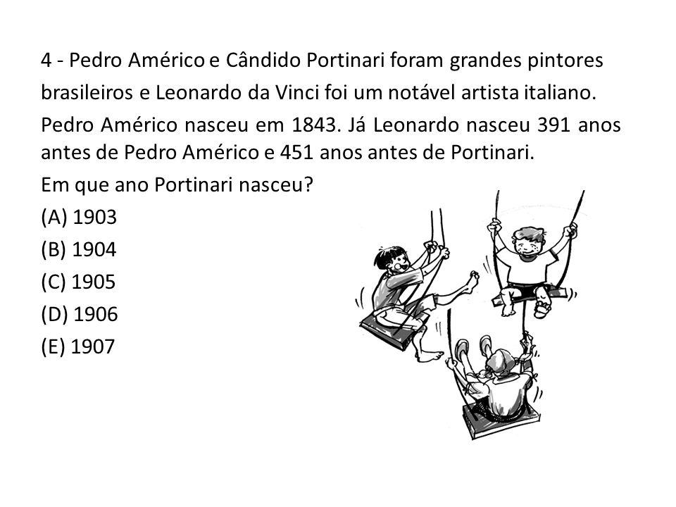 4 - Pedro Américo e Cândido Portinari foram grandes pintores