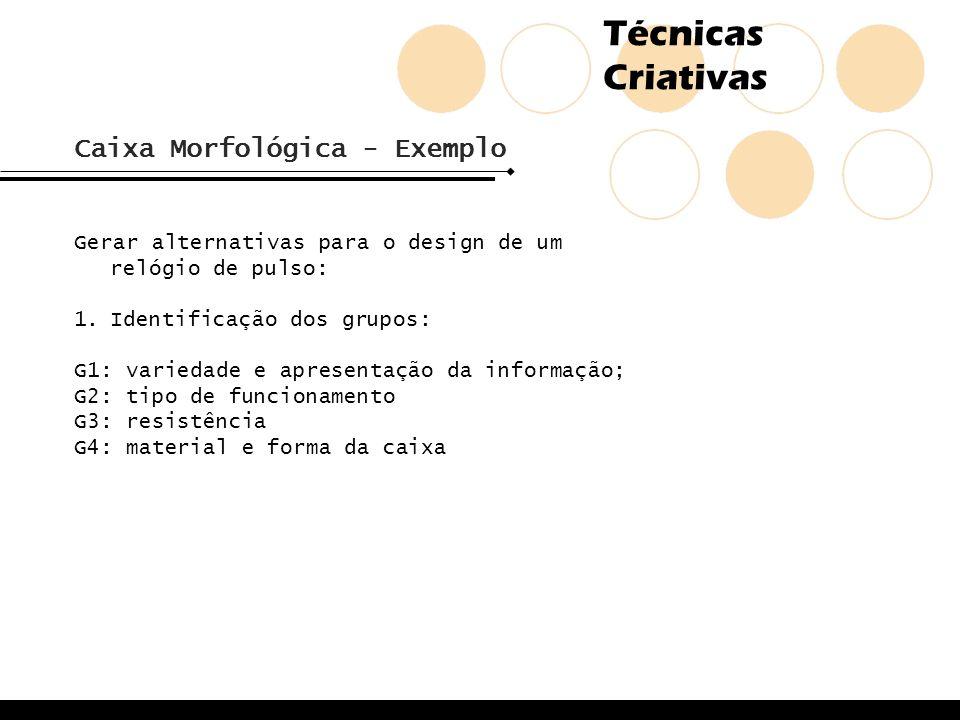 Caixa Morfológica - Exemplo