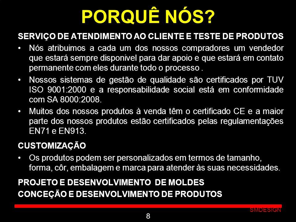 PORQUÊ NÓS SERVIÇO DE ATENDIMENTO AO CLIENTE E TESTE DE PRODUTOS