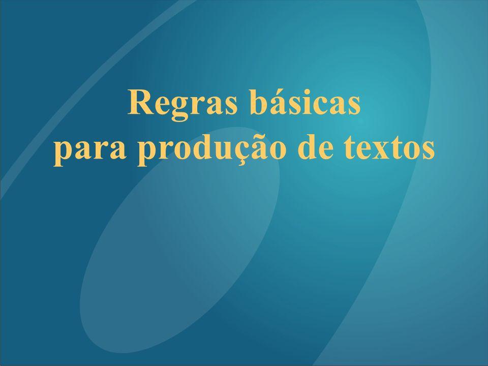 para produção de textos